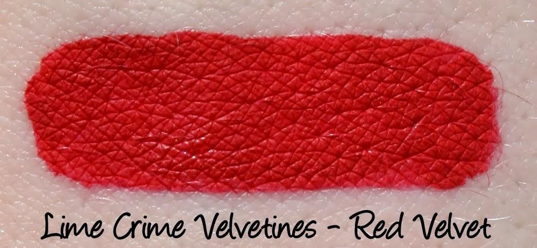 Lime Crime Velvetine - Red Velvet Swatch