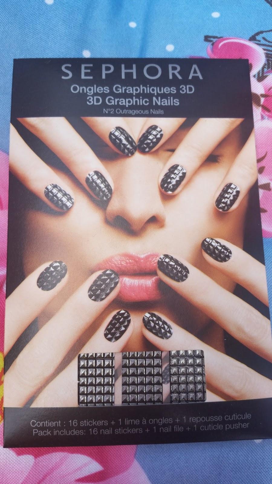 Sephore - Outrageous Nails 3D Nagelsticker - www.annitschkasblog.de