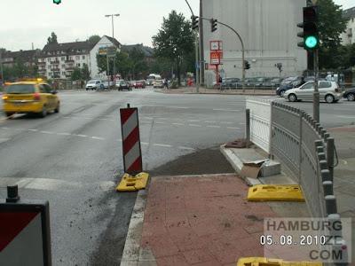 Kreuzung Holstenstraße / Strese - Radwegbau