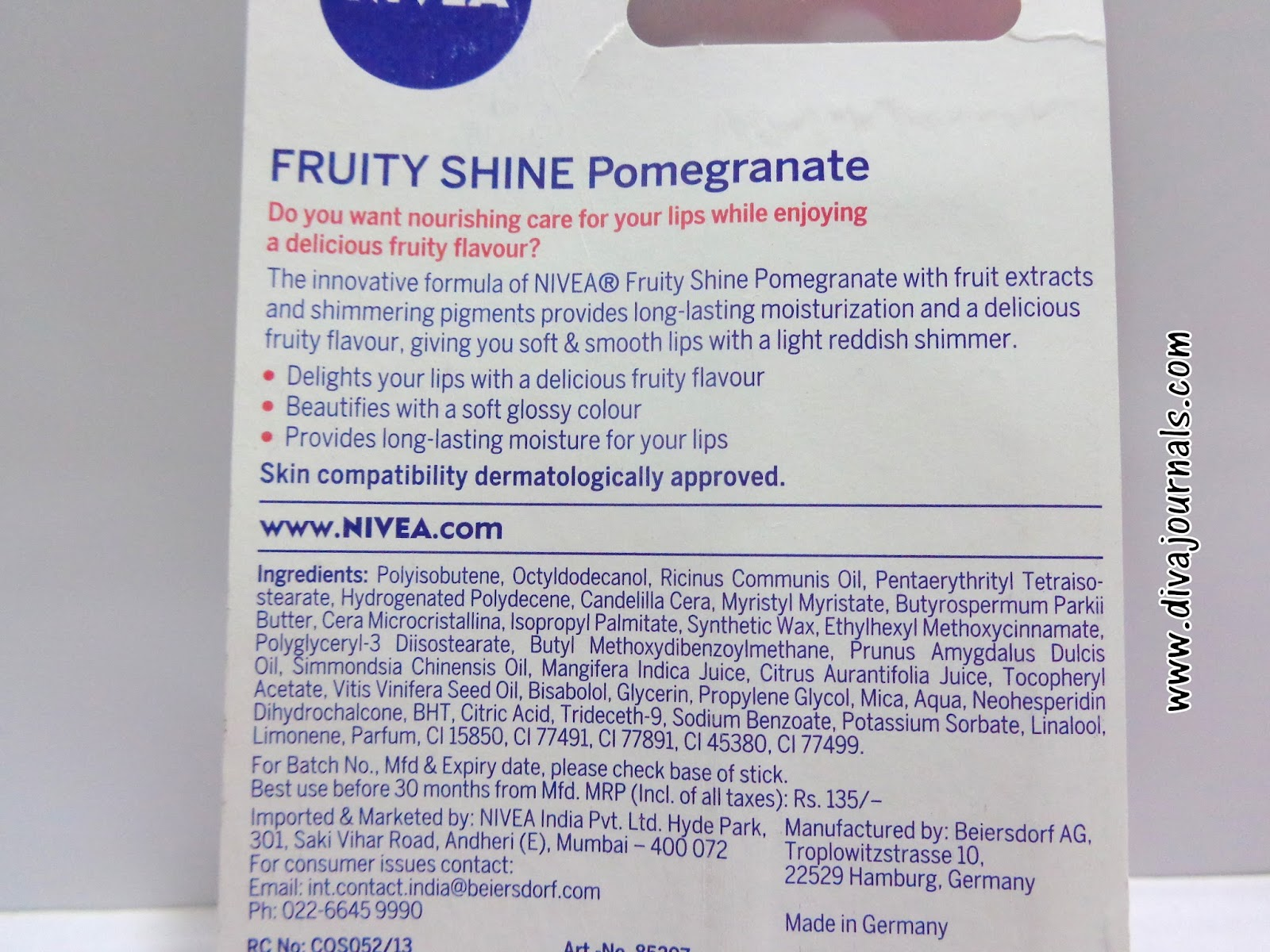 Nivea Fruity Shine Lip Balms Reviews