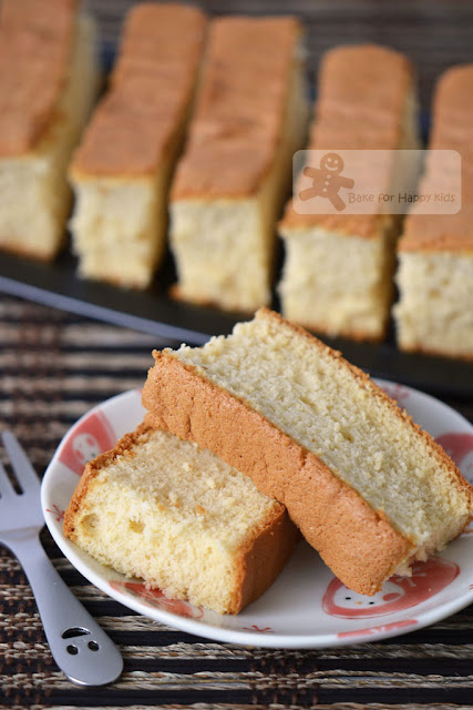 Japanese honey castella cake
