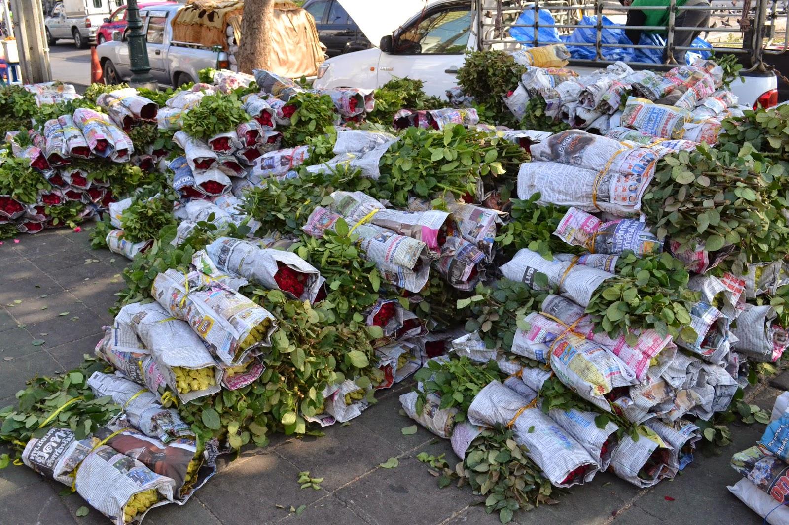 bangkok, voyage, quartier indien, marché aux fleurs