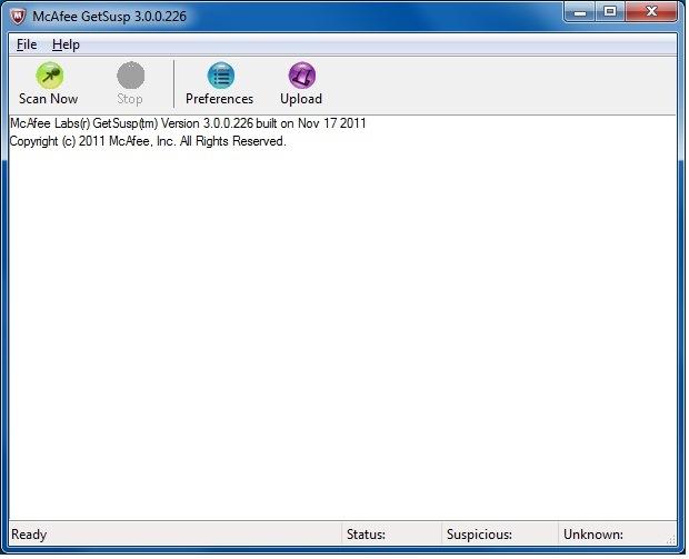 Antivirus para USB McAfee GetSusp