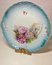 Aqua Blue Cake Plate