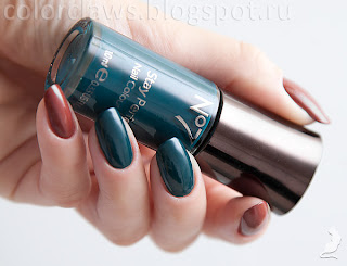 Boots №7 Totally Teal + Revlon #034 Totally Toffee