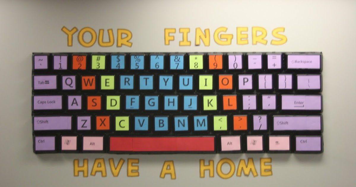Computer Lab Decoration Pics ~ Teach the bits and bytes extra large keyboard bulletin board