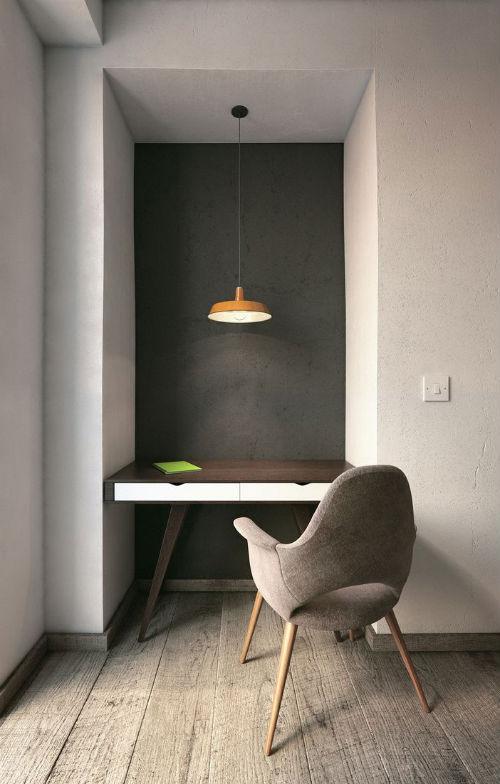 leuchtend grau interior magazin celebrating soft minimalism eine nische zwei varianten. Black Bedroom Furniture Sets. Home Design Ideas