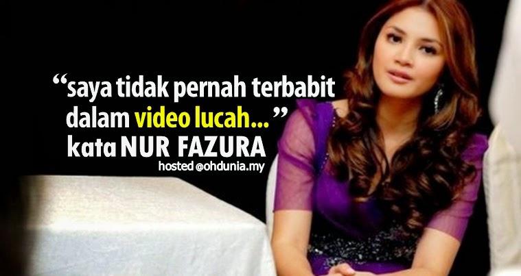 Saya tidak pernah terbabit dalam video lucah - kata Nur Fazura
