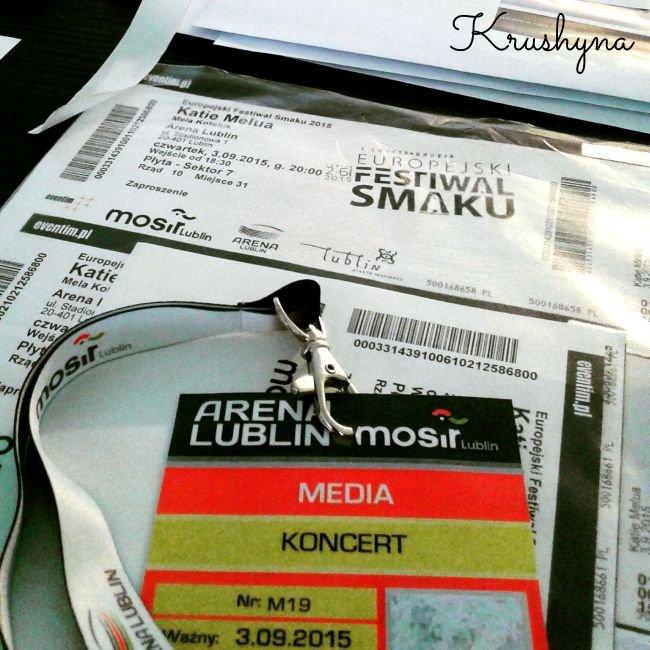 7. Europejski Festiwal Smaku, festival of tastes, Art'N'Taste Festival, akredytacje, media, identyfikator, Id, Arena Lublin, Lublin Arena, Lublin, bilety, Melua, Mela Koteluk, Europejski Festiwal Smaku 2015