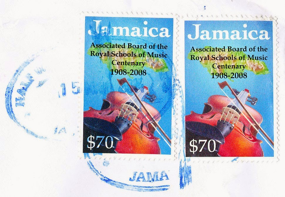 stamp, jamaica, royal schools of music, centenary