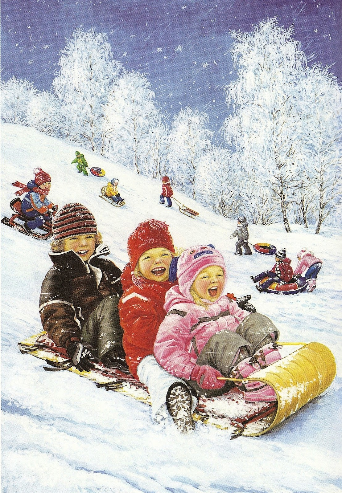 Зима дети зимние забавы времена года