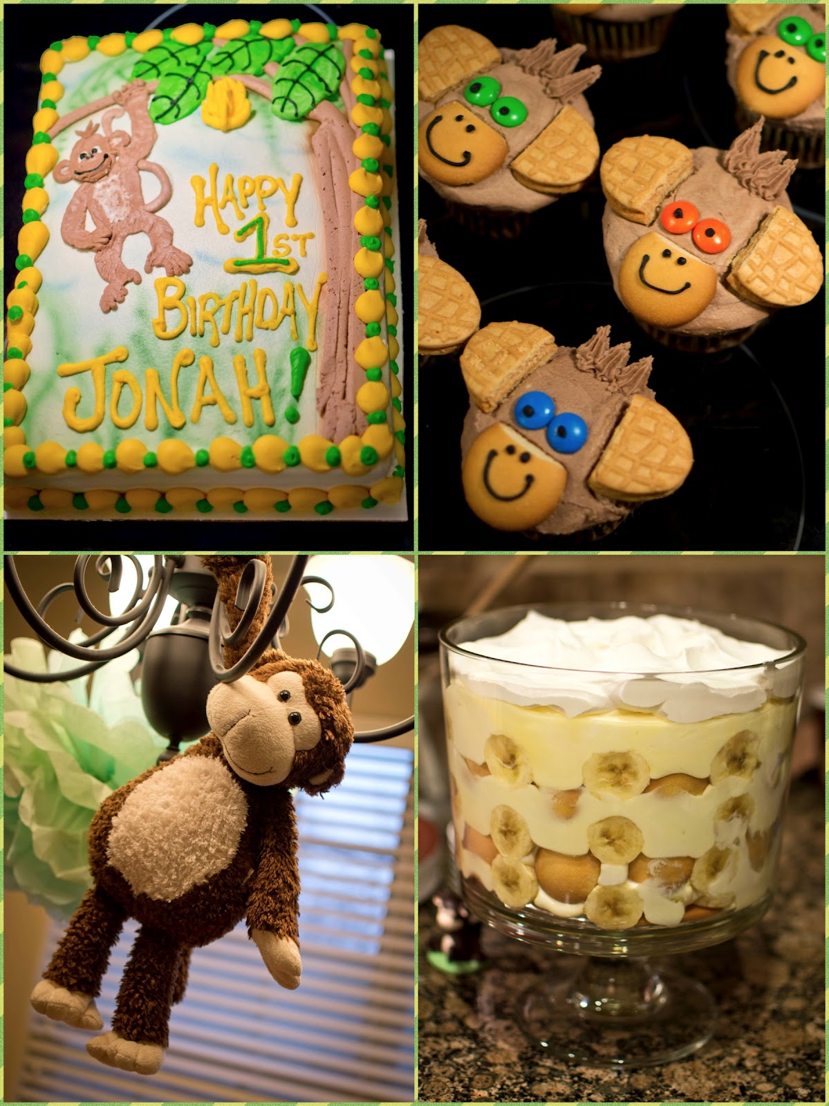 Idea For You Today My Youngest Turned 1 Year Old In March And I Knew 6 Months That He Was Going To Have A Monkey Themed First Birthday Party