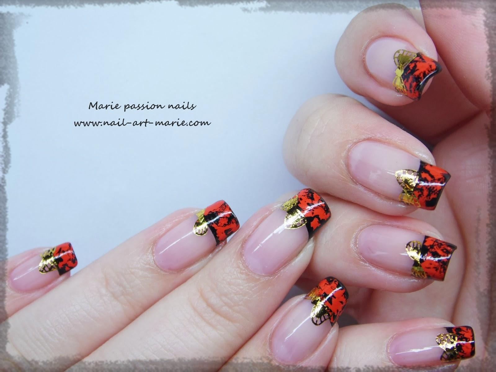 Nail Art avec craquelures de foils matte5