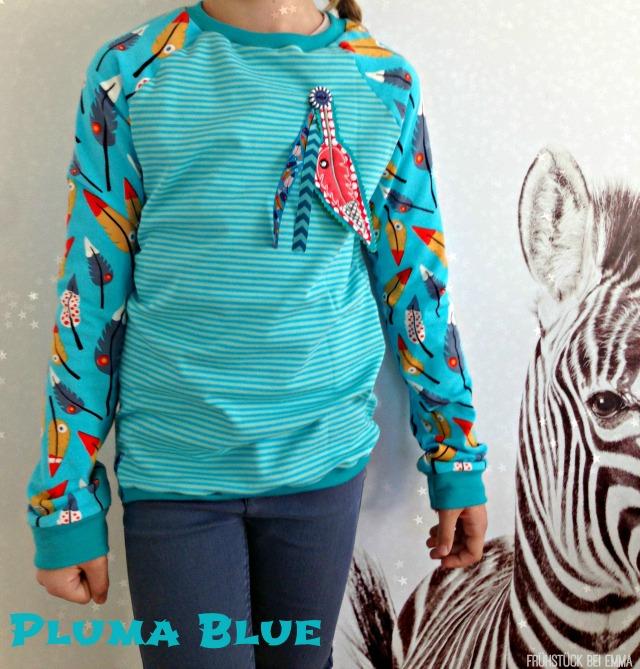 Shirt Zoe Farbenmix mit Pluma blue Stoff von Lillestoff Design Lila Lotta