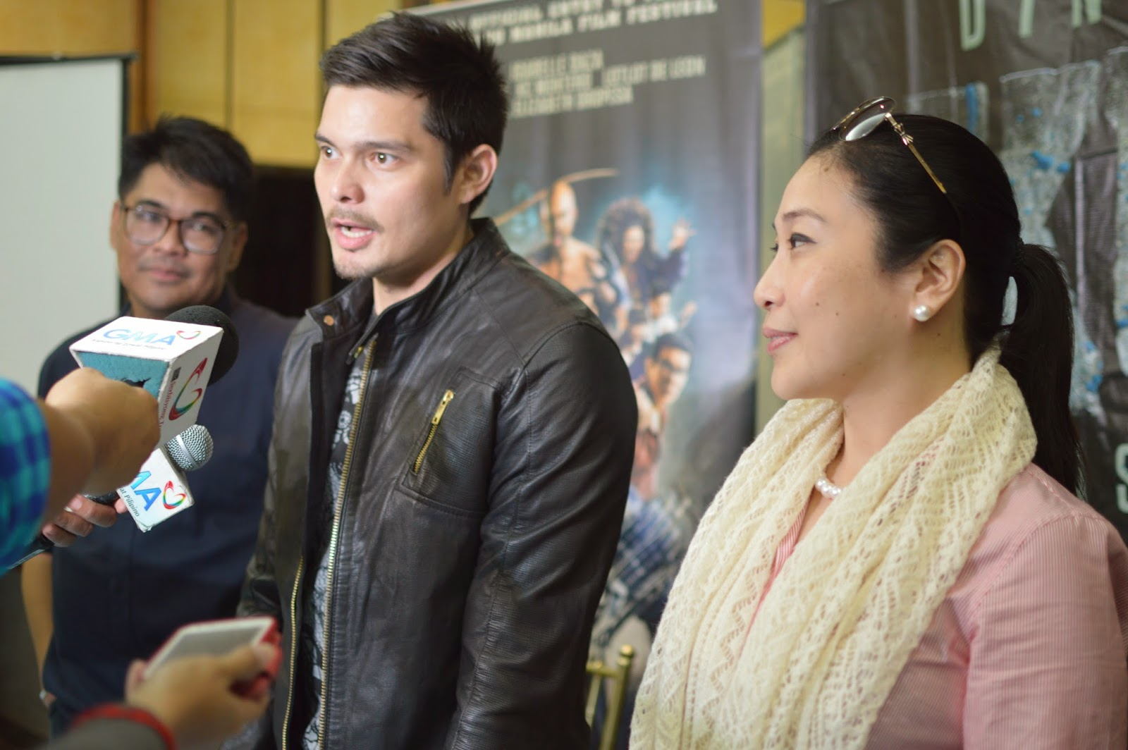Dingdong Dantes with Ms. Gozon