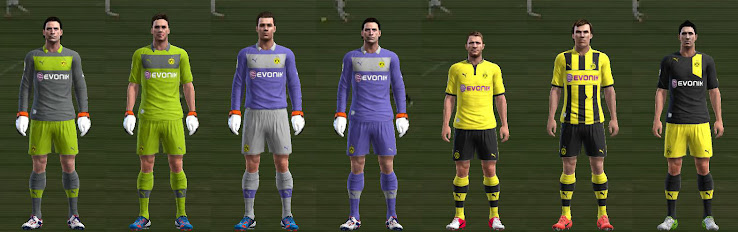 PES 2012 Dortmund 12 13 Kit Set by SpeedShadow