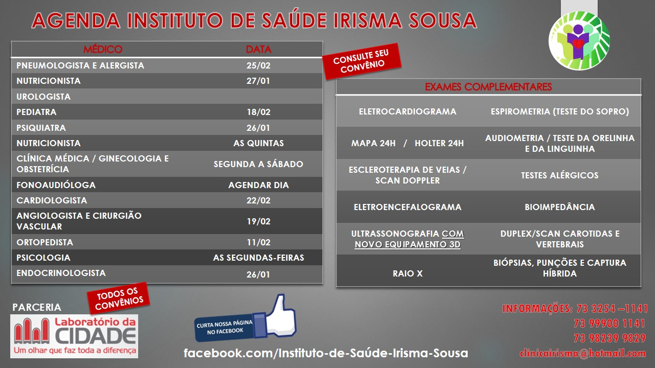 AGENDA INSTITUTO IRISMA SOUSA