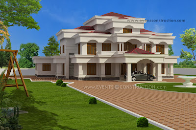 Evens Construction Pvt Ltd House Elevation In 334 Square