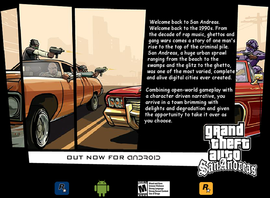 Grand Theft Auto: San Andreas for Android - Free Download