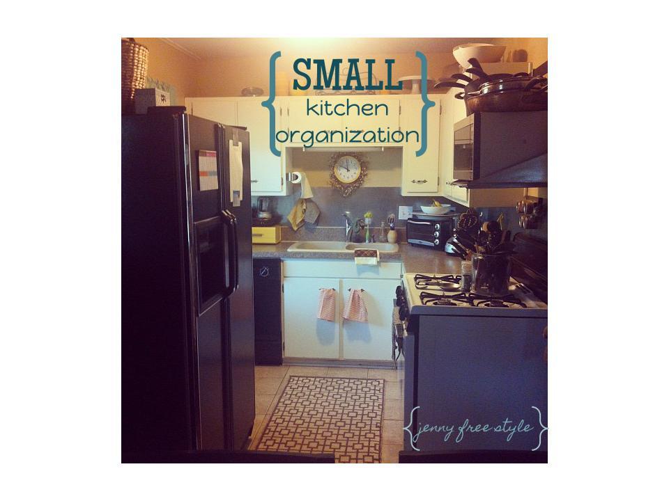 free style small kitchen organization