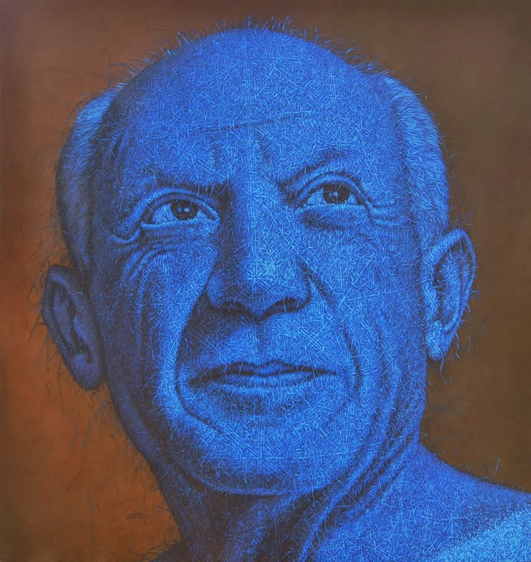 13-Picasso-Alexi-Torres-Woven-Oil-Paintings-www-designstack-co
