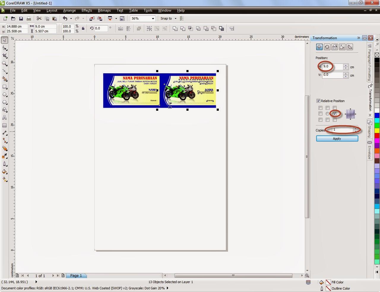 Tutorial Membuat Kartu Nama Dengan Corel Draw - Corel Draw Tutor
