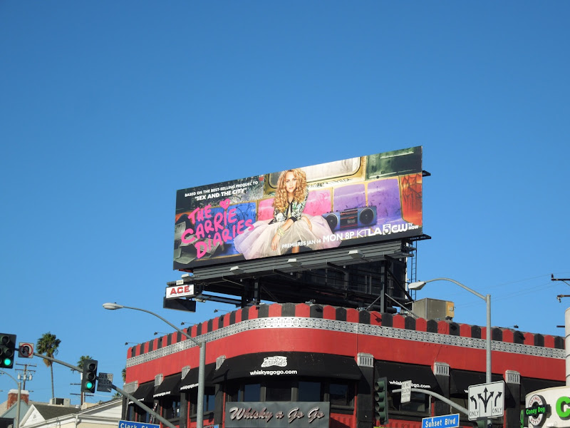 Carrie Diaries season 1 TV billboard