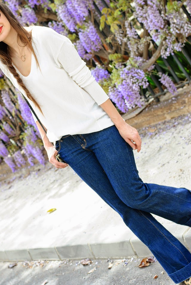 Flare-jeans-look