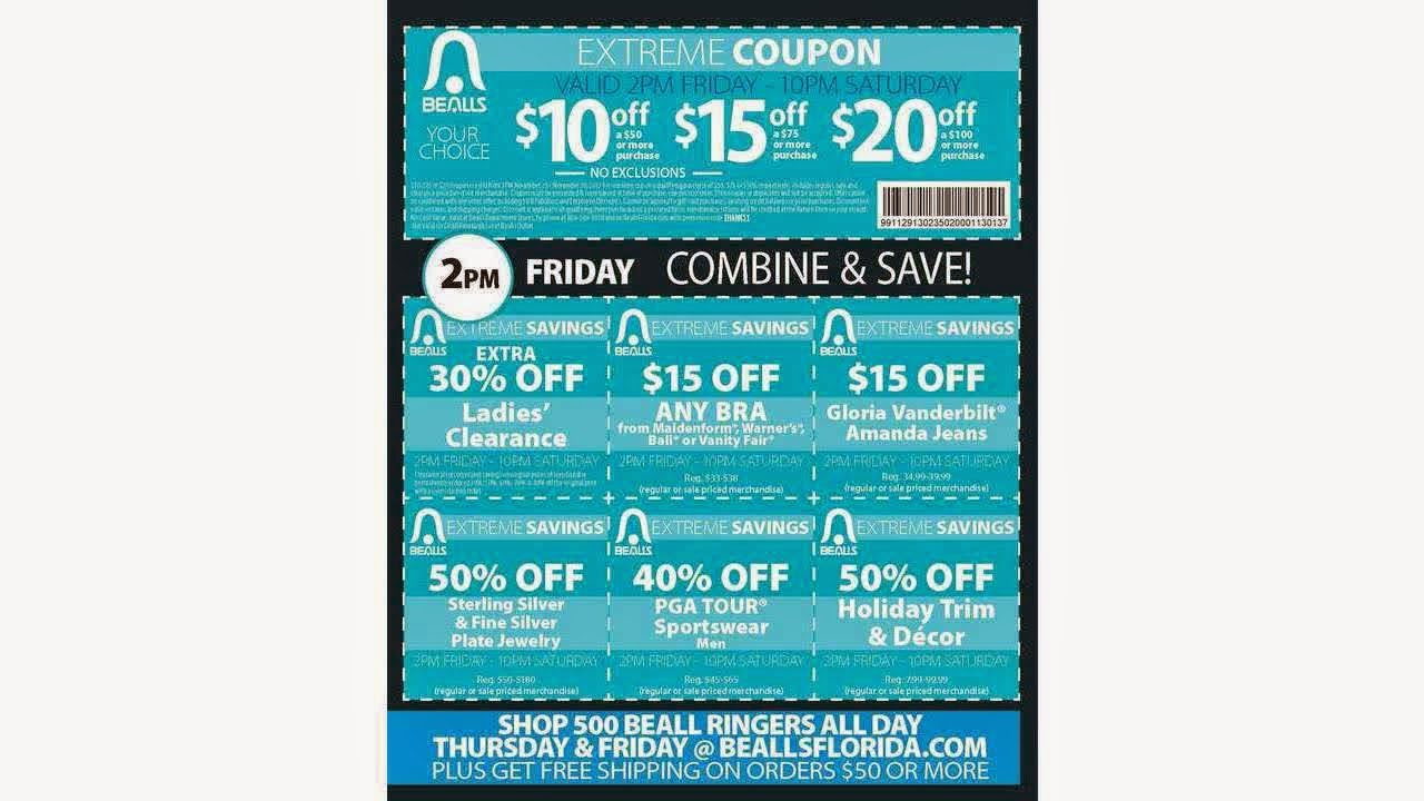 Bealls discount coupons