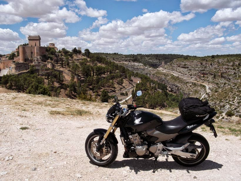 La mancha en moto