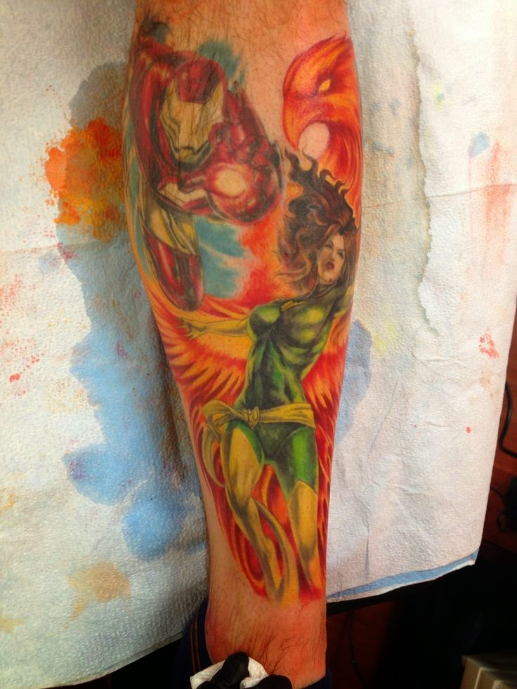 Jean grey phoenix jean grey 39 s tattoo for Anthony french tattoo
