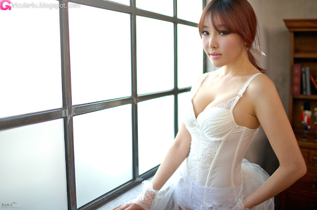 1 Park Se Ah - White Lingerie-very cute asian girl-girlcute4u.blogspot.com