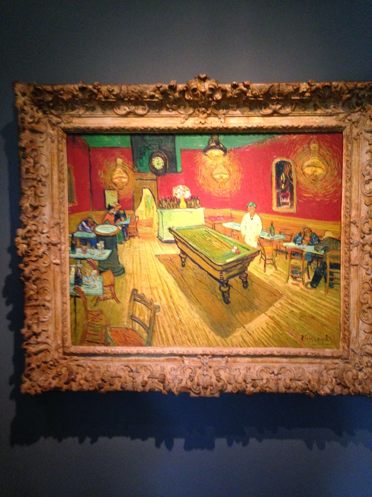 the museum experience fall photo essay yale art gallery vincent van gogh le cafeacute de nuit the night cafeacute 1888