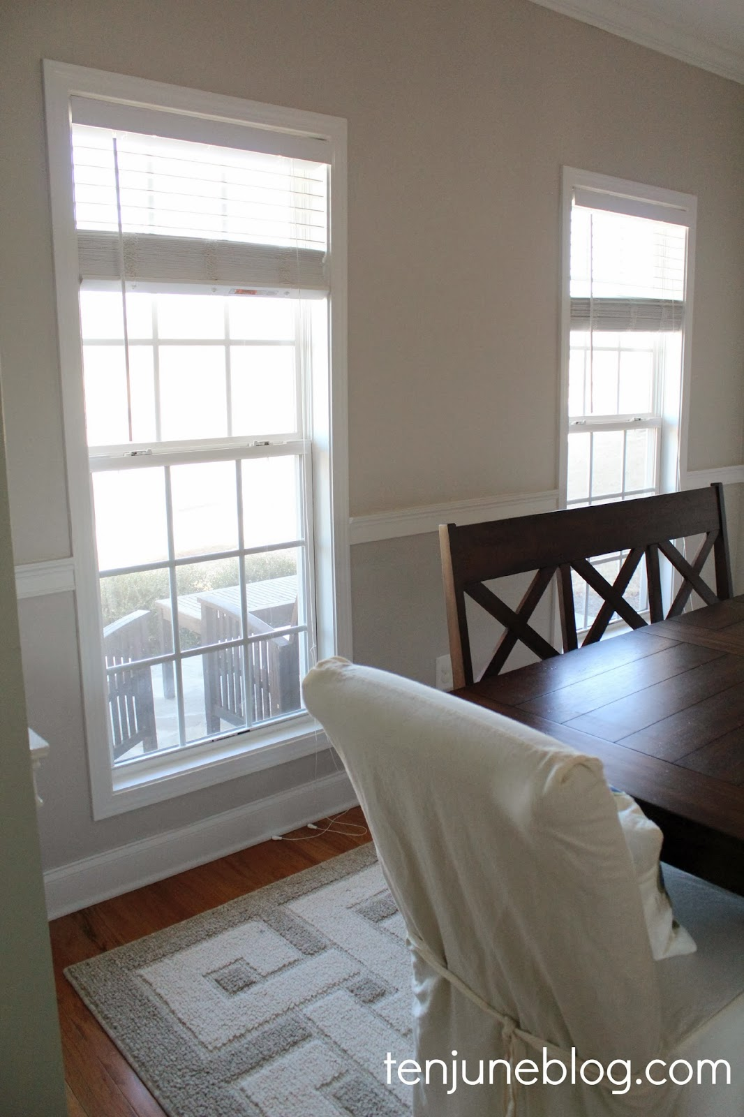 ten june dining room paint makeover sherwin williams. Black Bedroom Furniture Sets. Home Design Ideas