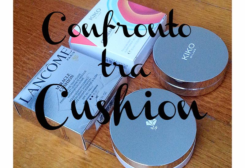 Confronto tra Cushion, Miracle Cushion Lancôme, Cushion System Kiko Cosmetics, swatch, comparazione
