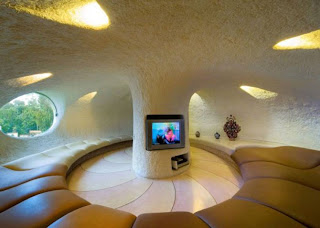 living room unique home house with snail design
