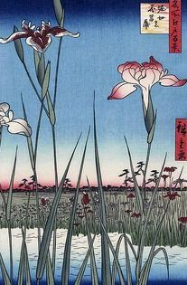 Lily of the valley. Grabado Ukiyo-e