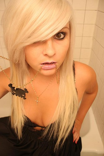 long layered emo hairstyles. Blonde Emo Hairstyles For