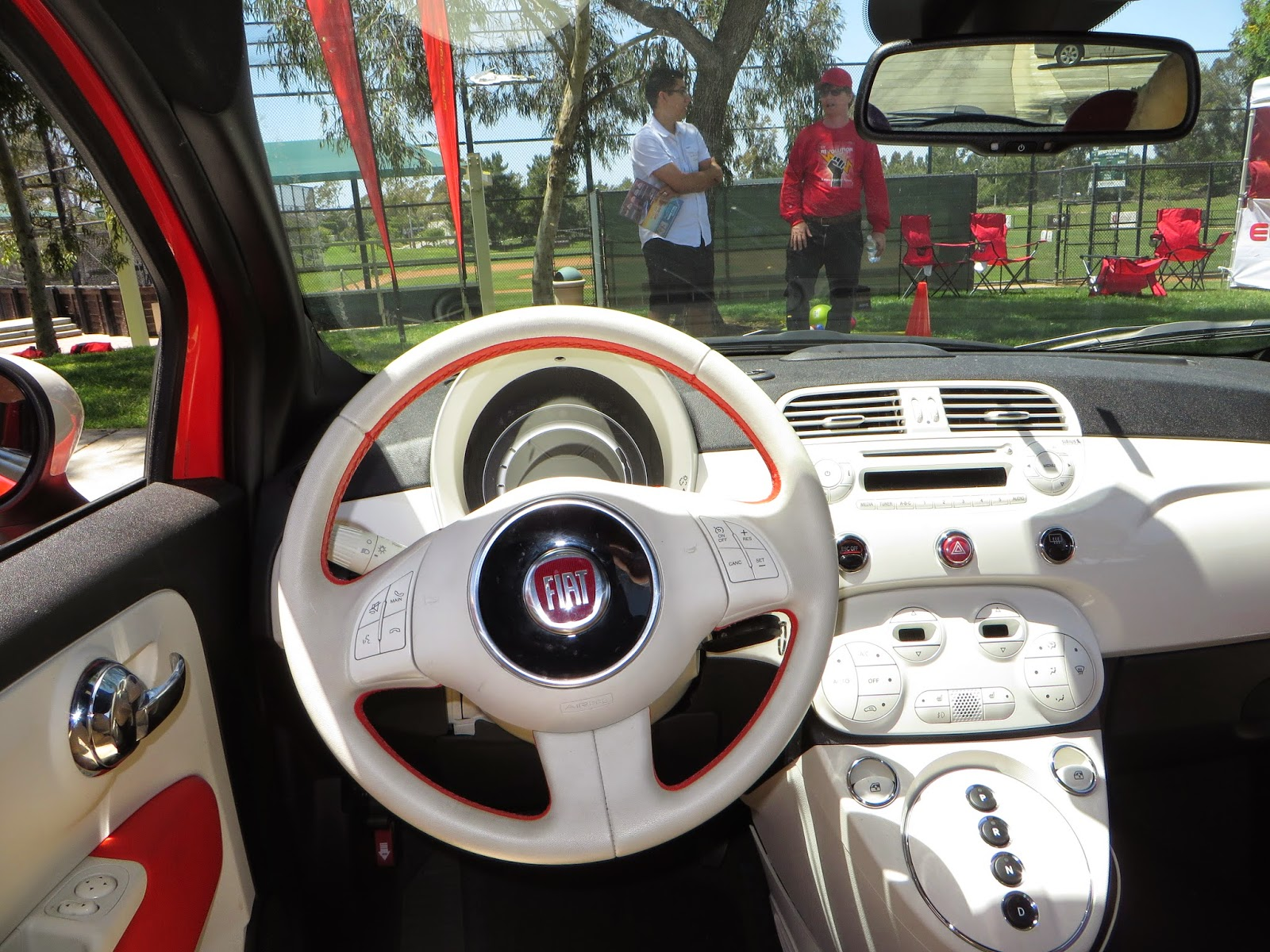 Italian Electric Car Dash Interior Steering Wheel