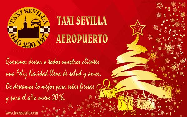 Taxi Sevilla os desea Felices Fiestas.
