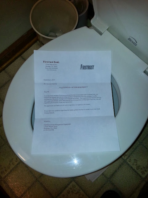 Firstrust bank bitcoin blockade and toilet