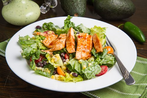 salad with spicy avocado dressing creamy avocado dressing chicken and ...
