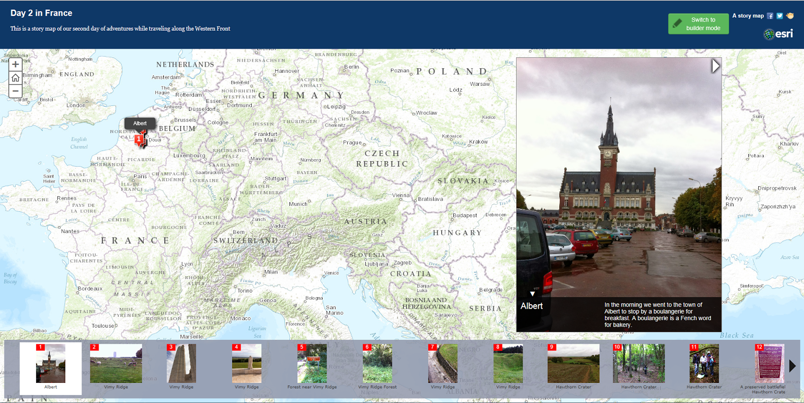 some of the editable features were difficult to use my esri story map focused on the second day of our trip day 2 in france
