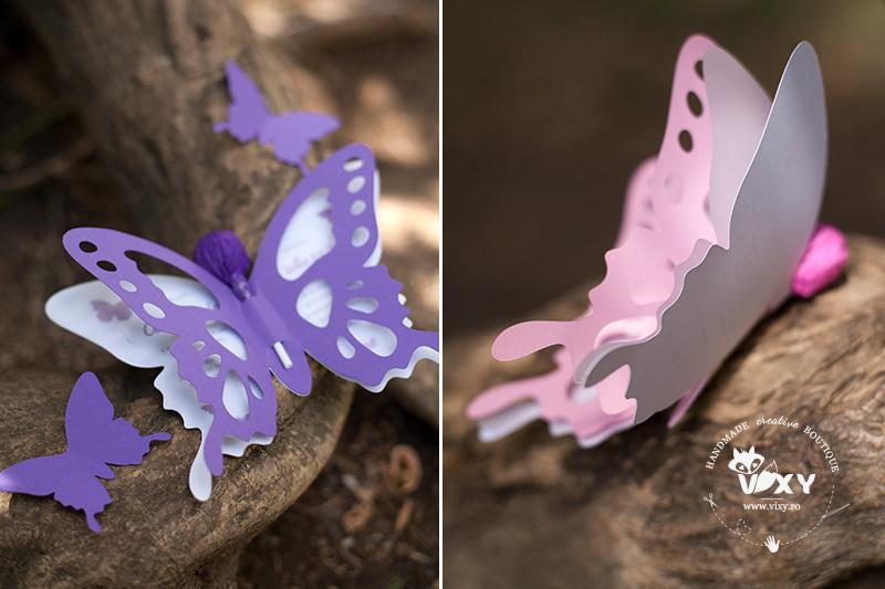 invitatie fluture, invitatie botez fluture, invitatie fluturas, invitatie handmade, vixy.ro, invitatie deosebita, fluture delicat, papetarie botez, fluture roz, fluture mov