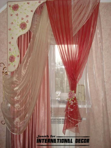 red girls curtains, girls bedroom curtains