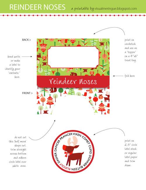 Free Printable Reindeer Noses Template