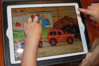 Moving dinosaur in FireTruck: 911 iPad app