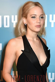 Jennifer Lawrence Hot Photo in Dior Black Couture Dress