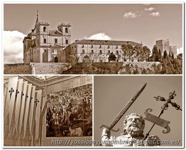 Mosaico de imágenes del Monasterio de Uclés