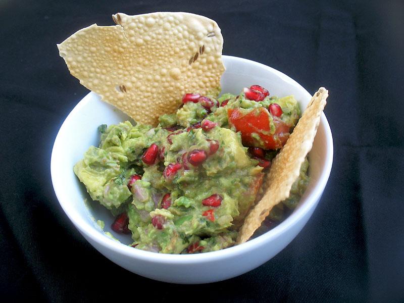 Pappadums with Avocado Pomegranate Salsa | Lisa's Kitchen | Vegetarian ...